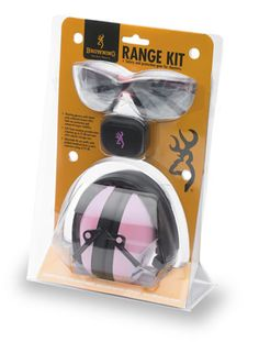 Browning Buckmark pink eye and ear protection kit.  Yeah I sorta need this.