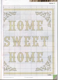 Home Sweet Home From Cross Stitcher N°215 August 2009 4 of 4