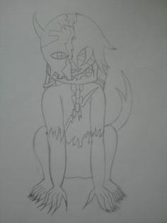 One of my school projects. Its a demon but i don't got a name for him yet.  Made by Me