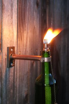 Copper Wine Bottle Tiki Torch Mounting by IlluminusCreations, $14.00