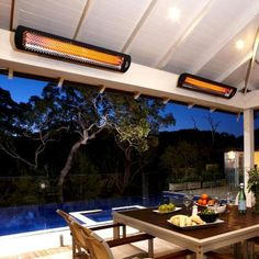 Bromic Heating Tungsten Smart-Heat 44-Inch 4000W Dual Element 208V Electric Infrared Patio Heater - Black - BH0420032-208 : Ultimate Patio