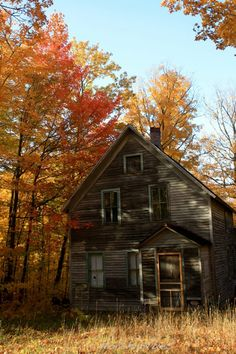 old house in color