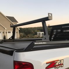 Need to carry longer pieces of equipment or supplies? Magnum's Universal Detachable Rear Cargo Truck Rack is made to support your longer loads: Kayak Rack For Truck, Truck Roof Rack, Truck Bed Rails, Truck Bed Storage, Truck Camping, Cool Truck Accessories, Truck Accesories, Jeep Pickup Truck, Silverado Truck