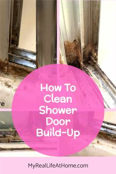 Use these simple household ingredients to clean even the dirtiest of shower doors and tracks #greencleaning #cleaninghacks #cleaningtips #bathroomcleaning #diy #bakingsoda #shower #vinegar #bakingsoda #cleanbathroom Home Cleaning Remedies, Diy Home Cleaning, Household Cleaning Tips, Deep Cleaning Tips, Cleaning Recipes, House Cleaning Tips, Diy Cleaning Products, Cleaning Hacks, Shower Cleaning