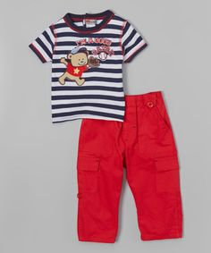 Love this Navy 'I'm a Good Catch' Tee & Pants on #zulily! #zulilyfinds