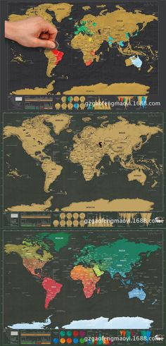 Scratch off world map travel poster black pinterest travel similar ideas gumiabroncs Images