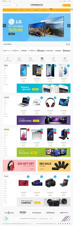Comeback is a bundle of 25+ Best Premium Magento 1.9 #Themes and 18+ Multipurpose #Magento 2 Themes for multipurpose eCommerce website. #tech #shop Download Now