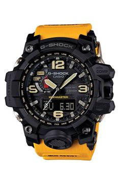 Shop men's and women's digital watches from G-SHOCK. G-SHOCK blends bold style with the most durable digital and analog-digital watches in the industry. Casio G-shock, Casio Watch, New G Shock, G Shock Mudmaster, G Shock Men, G Shock Watches Mens, Sport Watches, Cool Watches, Watches For Men