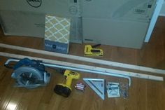 Custom Cornice for Less Than $30 : 11 Steps (with Pictures) - Instructables Window Cornice Diy, Cornice Box, Window Cornices, Bay Window Curtains, Burlap Curtains, Window Coverings, Cornice Boards, Window Seats, Home Deco Furniture