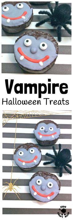 EASY VAMPIRE HALLOWEEN TREATS - a simple Halloween recipe kids will love to make. Fun Halloween food for your little monsters to get their fangs into! A Halloween craft you can eat!