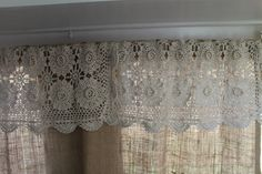 Camper Curtains and Valances Design 019 – Home and Apartment Ideas Camper Curtains, Burlap Curtains, Lace Curtains, Curtains With Blinds, Valances, Crochet Curtains, Bedroom Curtains, Burlap Kitchen, Primitive Kitchen