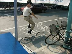 Snapshots Of The Elusive Invisible Bicycle In China, Zhaohua Sen On The Creators Project.
