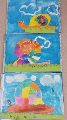 Wasserfarben- Schnecken