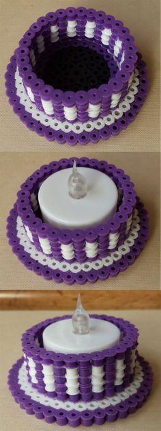 3D Perler tea light holder by Joanne Schiavoni