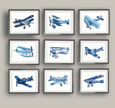 Your place to buy and sell all things handmade Transportation Nursery, Airplane Wall Art, Room Art, Boy Room, Wall Art Prints, Watercolor Art, Gallery Wall, Big, Frame