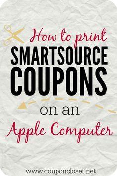 How to Print Smartsource Coupons on a Mac - Coupon Closet