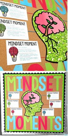 Growth Mindset Bulletin Board | Interactive Bulletin Board | Mindset Moments | Middle and High School | ELA #cultivatecomm