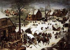 """Pieter Bruegel the Elder, The census at Bethlehem. """"..la terra era coperta di neve; e allora tutto faceva pensare ai quadri medievali del vecchio Bruegel..."""" Borinage, 26 dicembre 1878"""