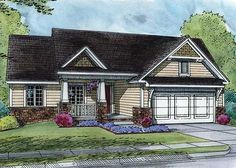 Comfortable Starter or Downsize Home - 42369DB | 1st Floor Master Suite, CAD Available, PDF, Ranch, Traditional | Architectural Designs
