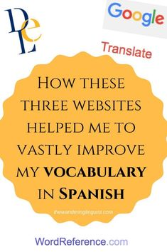 The only 3 websites you need to improve your Spanish vocabulary - The Wandering Linguist which websites you need to learn Spanish words online Spanish Vocabulary, Spanish Language Learning, Learn A New Language, Learn To Speak Spanish, Learn Spanish Online, Spanish Words, Spanish Lessons, Spanish Class, French Lessons