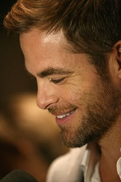 Chris Pine...admit it, you want to kiss his face off....