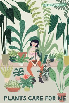 Danke Pflanzen Transform your home with houseplants into a relaxation oasis. Illustration by Joëlle Wehkamp Art And Illustration, Illustration Design Graphique, Portrait Illustration, Flowers Wallpaper, Art Watercolor, Plants Vs Zombies, Houseplants, Indoor Plants, Art Inspo