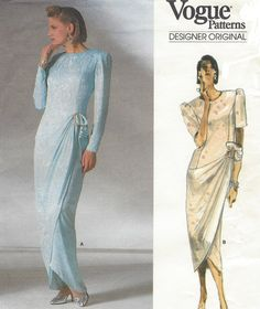 80s Bellville Sassoon Womens Evening Gown Vogue by CloesCloset