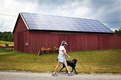 A federal program is bringing solar energy and other green technology to farms…