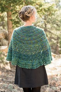 The Monsoon Shawl, by Angela Tong, would be another great choice for Rambouillet Worsted. You'd need three skeins.