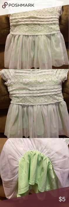 Guess Los Angeles dress Adorable lime green dress with lace over top. Great condition, no stains nor tears. From smoke free home. A green liner underneath as seen in 3rd picture. guess los angeles Dresses