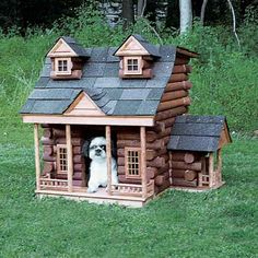 A log—or is it dog—cabin, made out of spindles and shingles left over from the construction of a porch on the main house. | thisoldhouse.com