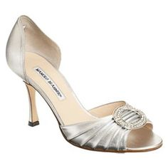 "Manolo Blahnik ""Sedaraby"" Silver D'orsay Pumps....these would be the crown jewel in my shoe collection!"