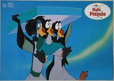 The Pebble and the Penguin lobby card Hubi der Pinguin