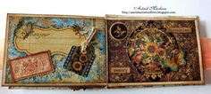ATC sized mini booklet:by guest designer Astrid Maclean