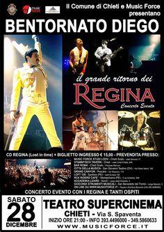 Diego Regina e la band tribute dei Queen, nuovo inizio al Supercinema di Chieti   L'Abruzzo è servito   Quotidiano di ricette e notizie d'Abruzzo