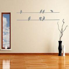Seven Birds On A Wire Vinyl Wall Sticker - home accessories