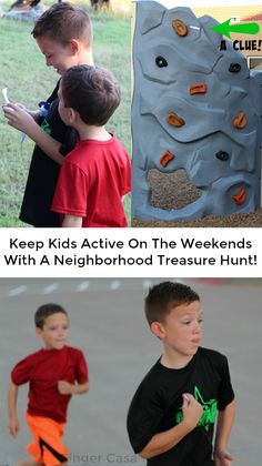 Help kids stay active and having fun outside with a neighborhood treasure hunt!  This idea is a great activity for family fun!  AD #CLIFKid