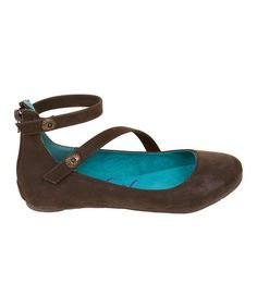 Take a look at this Dark Brown Fawn Panton Ankle-Strap Flats by Blowfish Malibu on #zulily today!