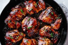 Cuisses de Poulet au Four au Soya et au Miel Chicken Thigh Recipes Oven, Baked Chicken, Chicken Recipes, Healthy Chicken, Oven Chicken, Dinner Recipes Easy Quick, Quick Easy Meals, Vegetarian Recipes, Healthy Recipes