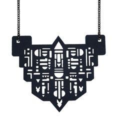 Felt necklaces laser cut