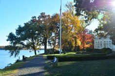 Delaware River from the back of the Glen Foerd Estate.
