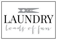 Laundry Loads of Fun Printable | anightowlblog.com