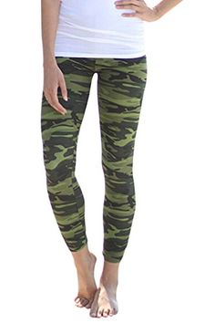 Pink Wind Womens Printed Ankle Length Stretch Tights Leggings Pants -- Details can be found by clicking on the image.