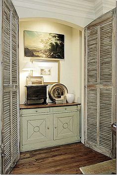 nook with fabulous shutters