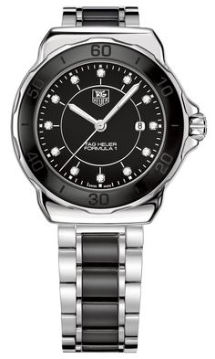 TAG Heuer Formula 1 Lady Steel & Black Ceramic Watch with Diamond Dial - Jewelers Trade Shop, Pensacola FL