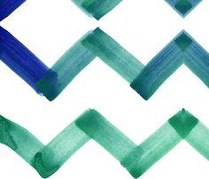 cestlaviv_chevron_emerald fabric by c'est_la_viv on Spoonflower - custom fabric