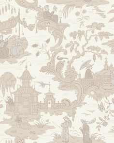 Chinese Toile By Cole & Son | Cole & Son Wallpaper | Wallpaper UK Asian Wallpaper, Neutral Wallpaper, Toile Wallpaper, Chinoiserie Wallpaper, Wallpaper Roll, Pattern Wallpaper, Oriental Wallpaper, Charcoal Wallpaper, Chinese Wallpaper