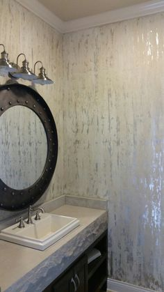 Silver Rain finish, guest bath