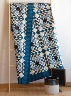 Union Blues Quilt Kit | The fabrics are reproduction style ones created by Barbara Brackman for Moda.
