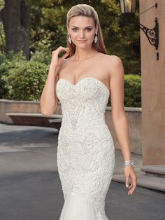 casablanca spring 2018 strapless sweetheart neckline heavily embellished bodice elegant mermaid wedding dress medium train (paige) zv -- The Spring 2018 Casablanca Bridal Collection is All Kinds of Gorgeous Mod Wedding, Bridal Wedding Dresses, Wedding Ideas, Wedding Inspiration, Bridal Style, Casablanca Bridal, Bridal Collection, Dress Collection, Fit And Flare Wedding Dress